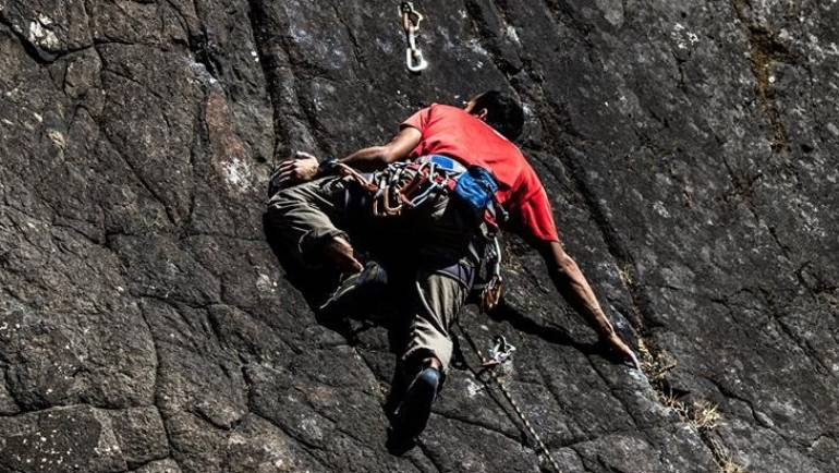 Rock Climbing in Badami